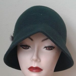 5for25 Green Cloche Hat